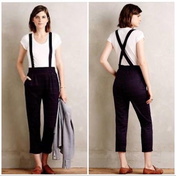 bc31241d46dd Harlyn tartan plaid suspender crop pants 8